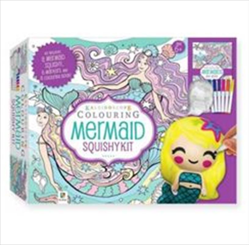 Colouring Mermaid Squishy Kit | Hardback Book