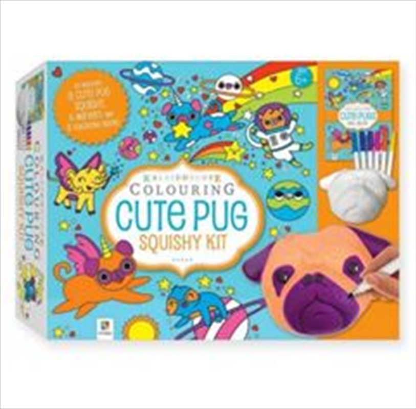 Cute Pug Squishy Kit | Hardback Book