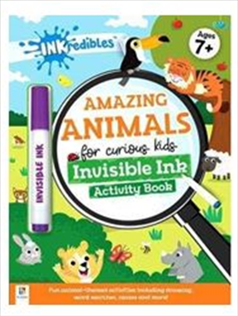 Amazing Animals Invisible Ink | Paperback Book