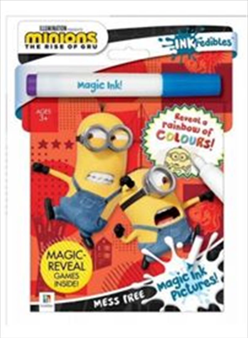 Minions: The Rise of Gru Magic Ink Pictures | Paperback Book