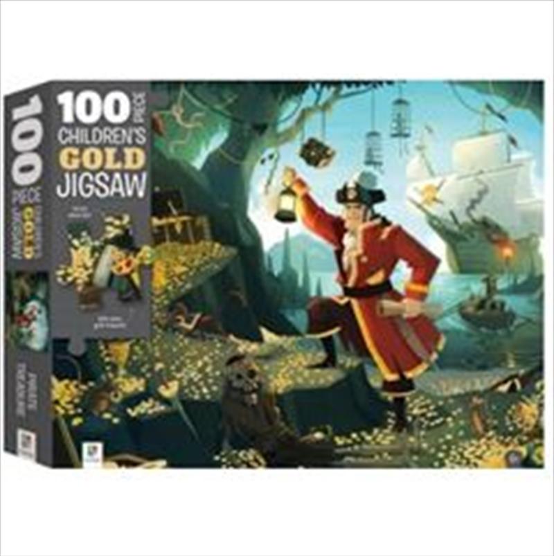 Pirate Treasure 100 Piece Children's Gold Jigsaw Puzzle | Merchandise