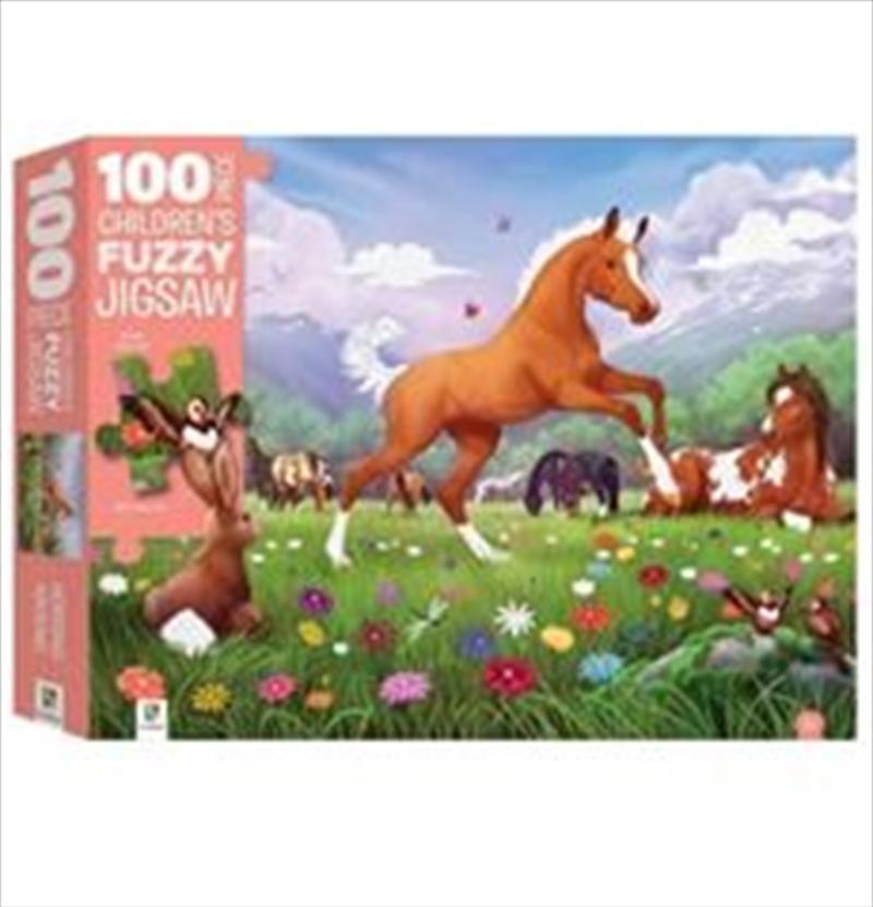 Horsing Around: Fuzzy Jigsaw 100 Piece | Merchandise