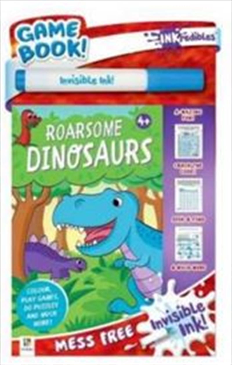 Inkredibles Invisible Ink: Roarsome Dinosaurs | Paperback Book