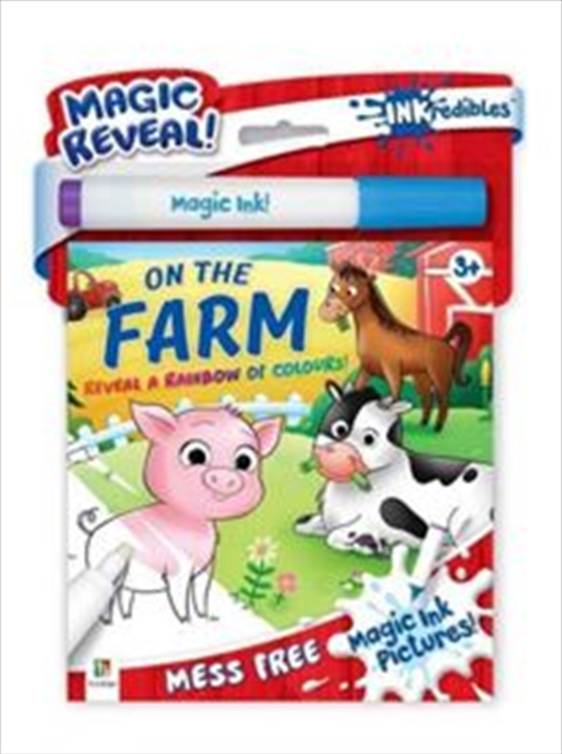 Inkredibles Magic Ink Pictures On the Farm | Paperback Book