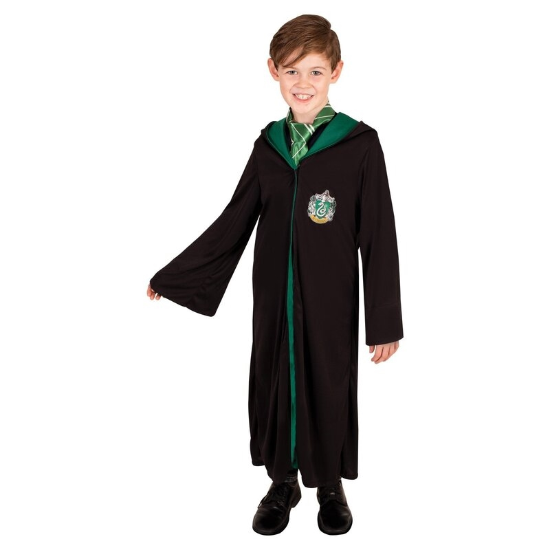 Slytherin Robe Costume (Size For Ages 6+ Years) | Apparel