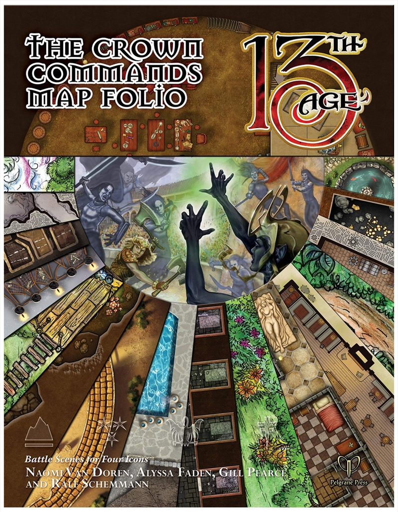 13th Age RPG - The Crown Commands Supplement Map Folio | Merchandise