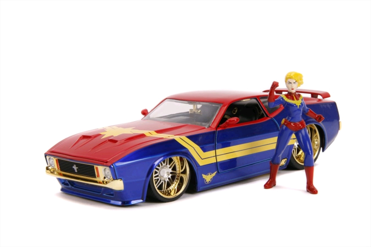 Captain Marvel - 1973 Ford Mustang Mach 1 1:24 Scale Hollywood Ride | Merchandise