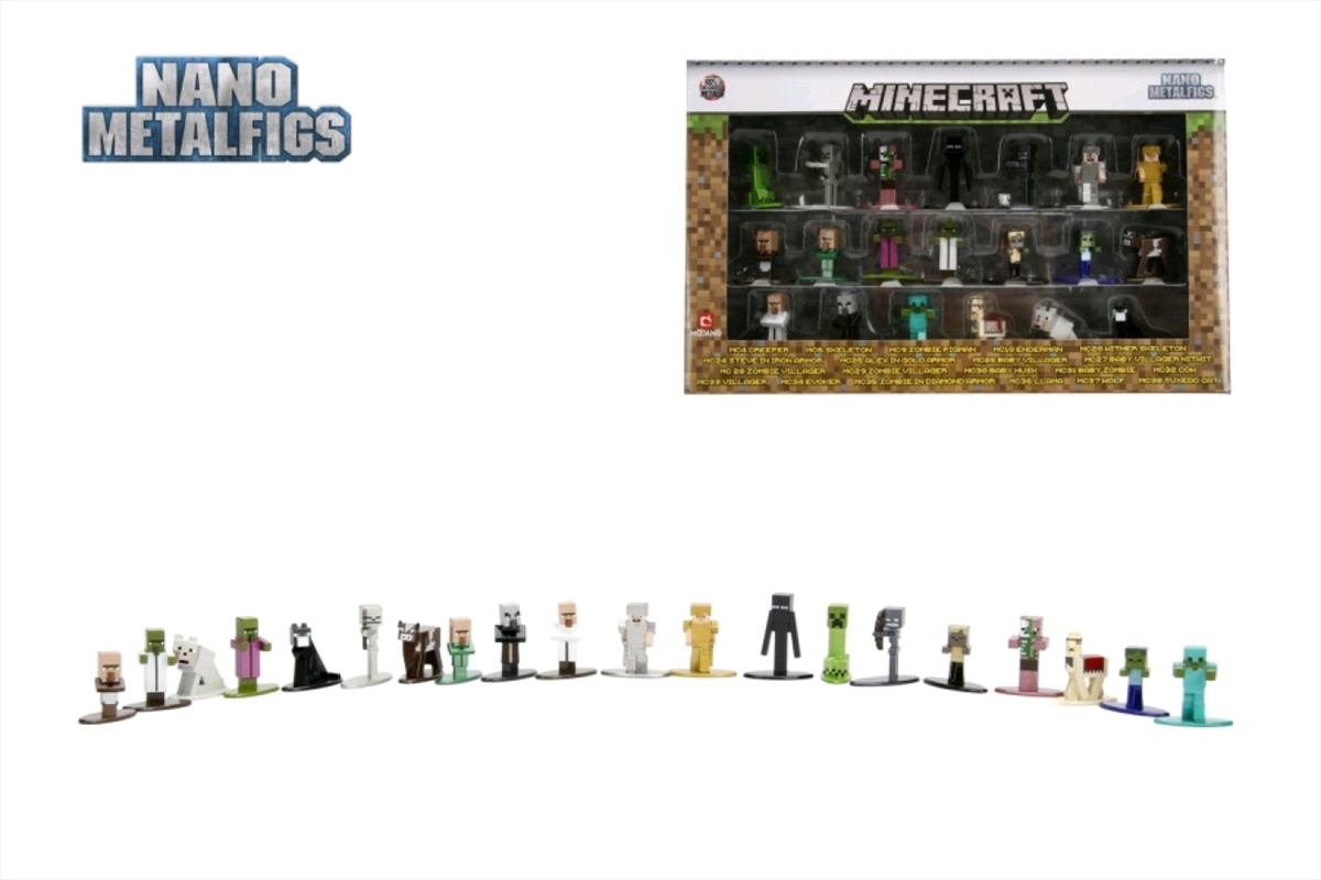 Minecraft - Nano Metalfigs 20-pack wave 01   Merchandise