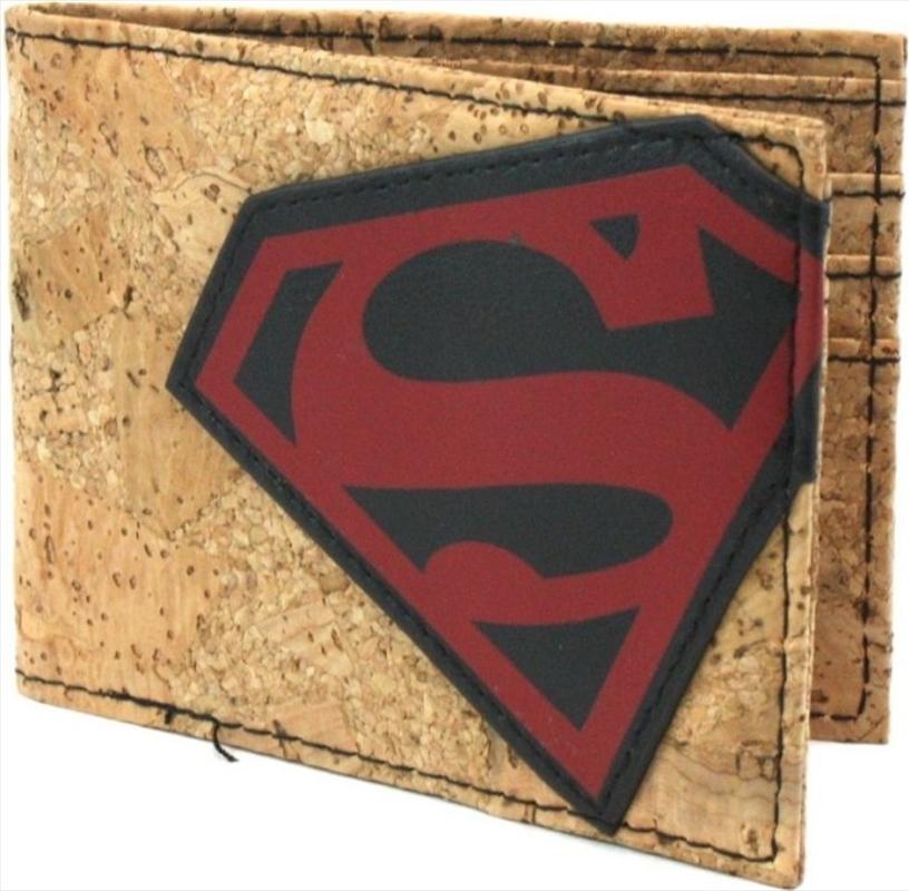 Superman Cork & Applique Bi-fold Wallet   Apparel
