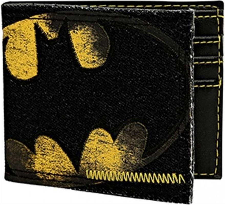 Batman Logo Denim Bi-fold Wallet | Apparel