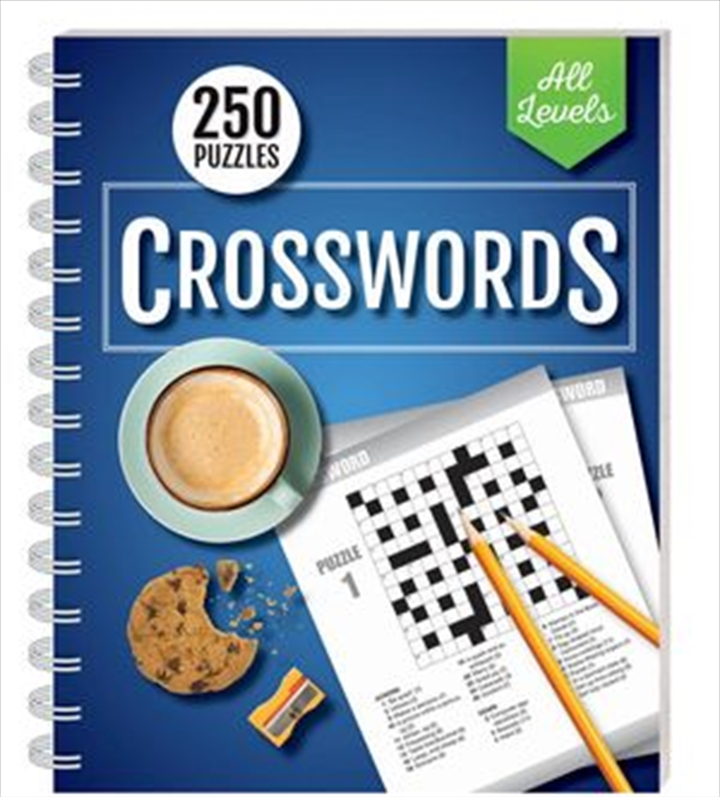 250 Puzzles Crosswords All Levels (spiral bound) | Books