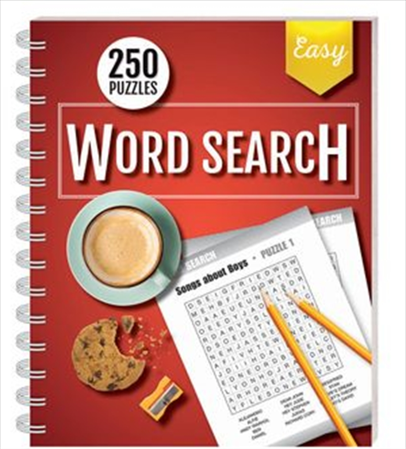 250 Puzzles Word Search Easy (spiral bound)   Books
