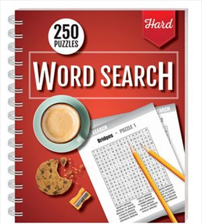 250 Puzzles Word Search Hard (spiral bound) | Books