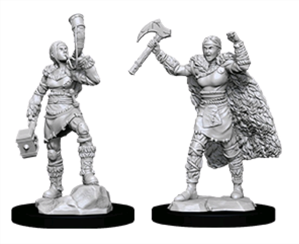 Dungeons & Dragons - Nolzur's Marvelous Unpainted Minis: Female Human Barbarian | Games