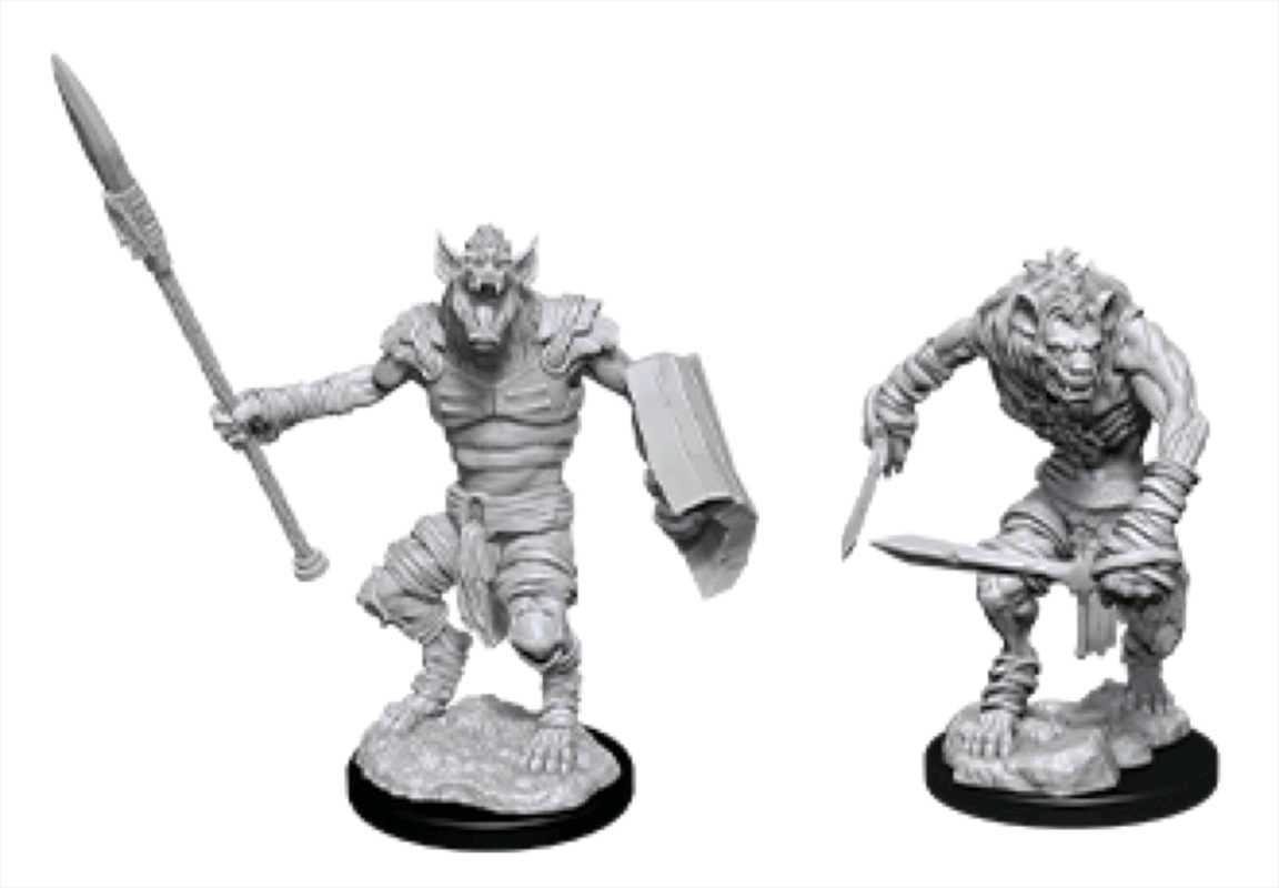 Dungeons & Dragons - Nolzur's Marvelous Unpainted Minis: Gnoll & Gnoll Flesh Gnawer | Games