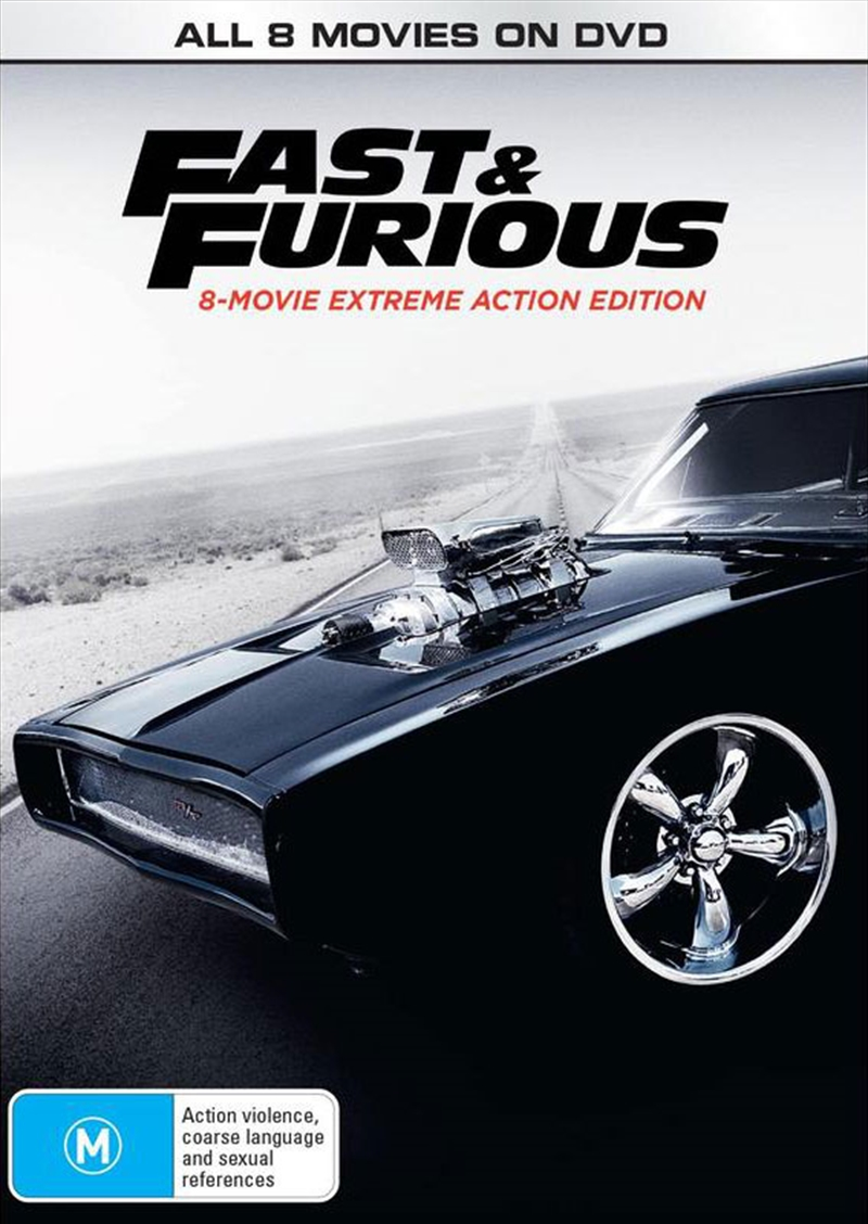 Fast and Furious | 8 Movie Franchise | DVD
