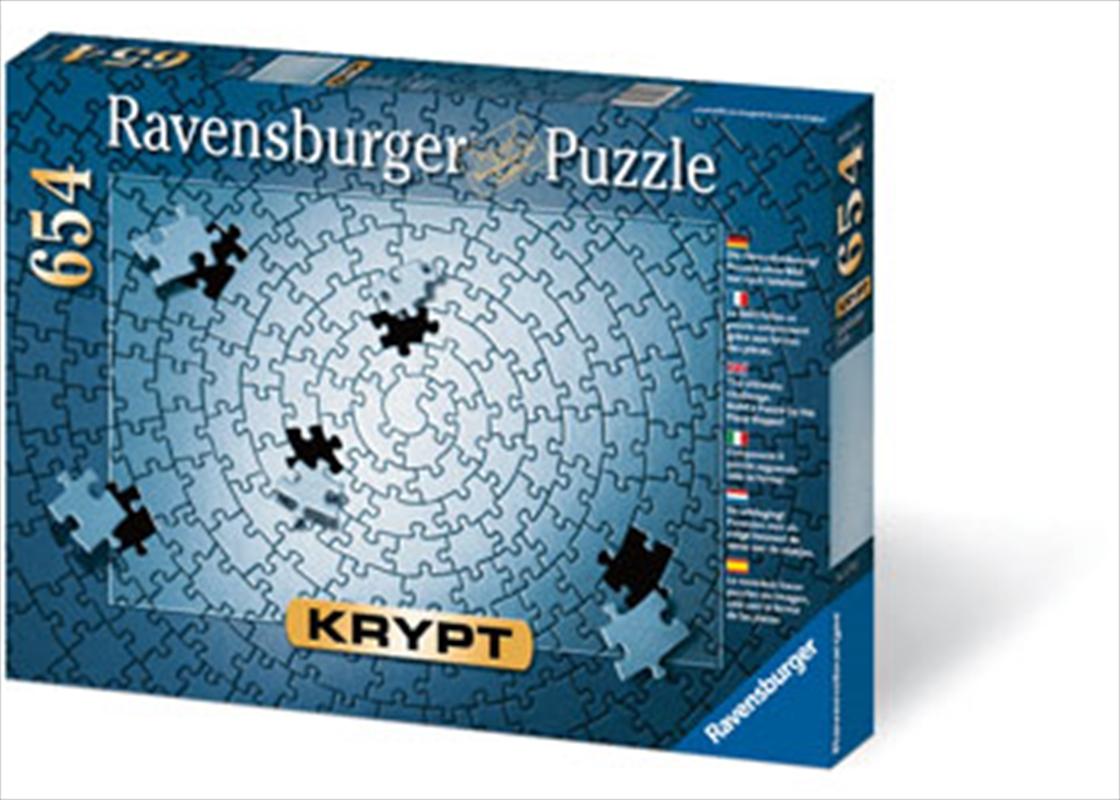 Ravensburger - KRYPT Silver Spiral Puzzle 654 Piece | Merchandise