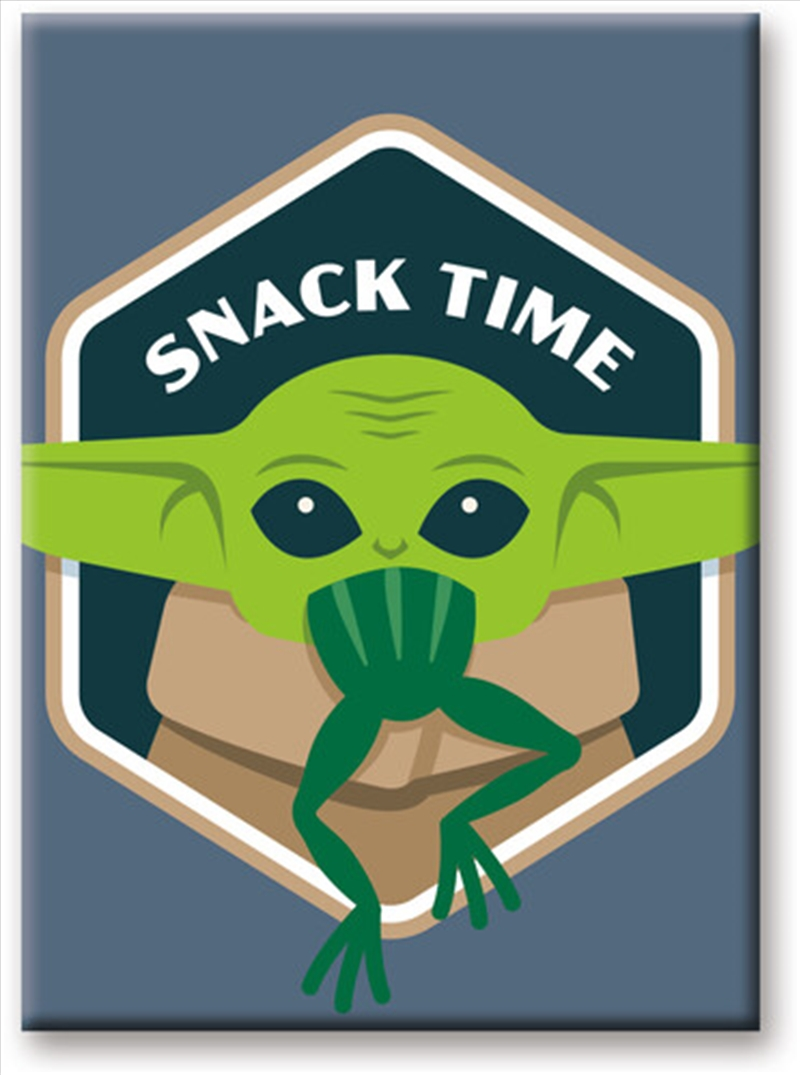 Star Wars: The Mandalorian- The Child Baby Yoda Snack Time 2.5 x 3.5Flat Magnet | Merchandise