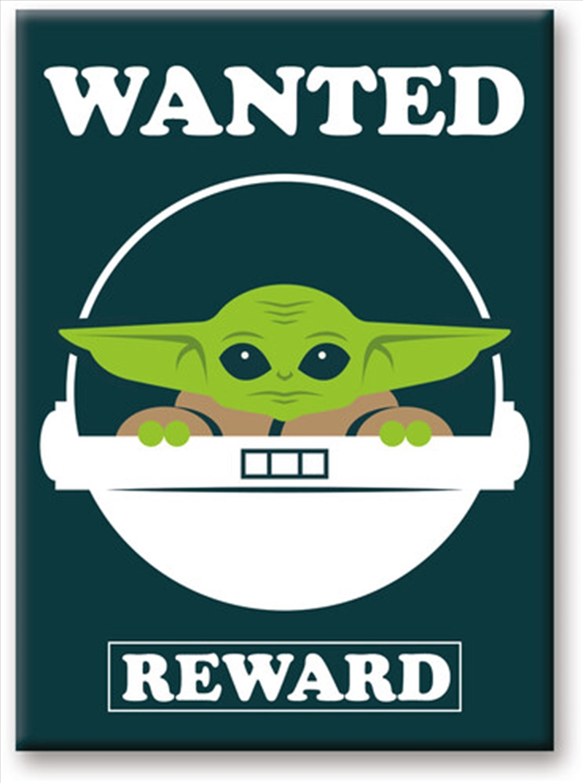 Star Wars: The Mandalorian- The Child Baby Yoda Wanted 2.5 x 3.5 FlatMagnet   Merchandise