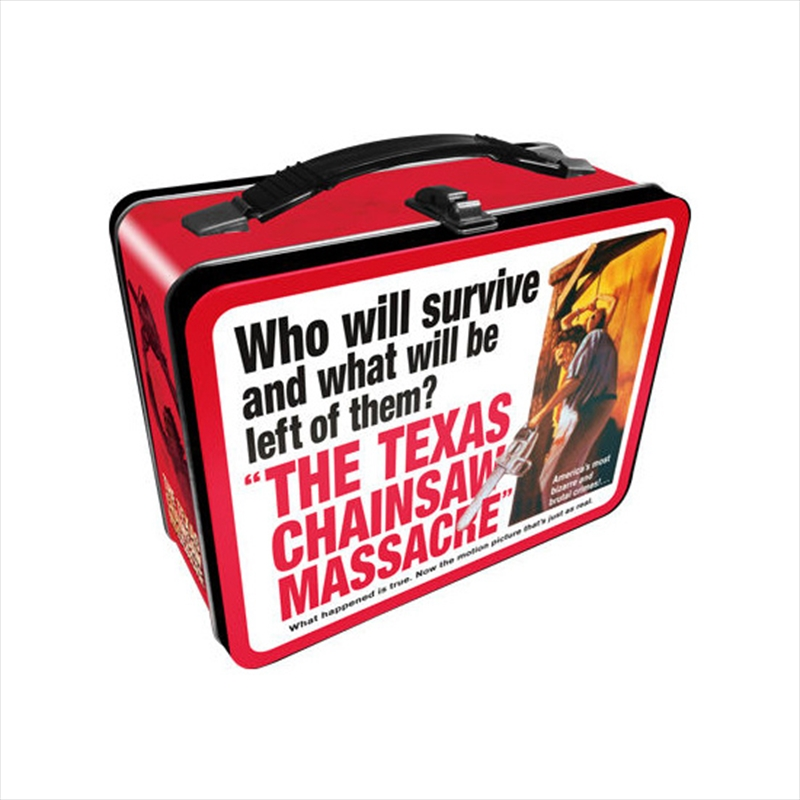 Texas Chainsaw Massacre Tin Carry All Fun Box /  Lunch Box   Lunchbox