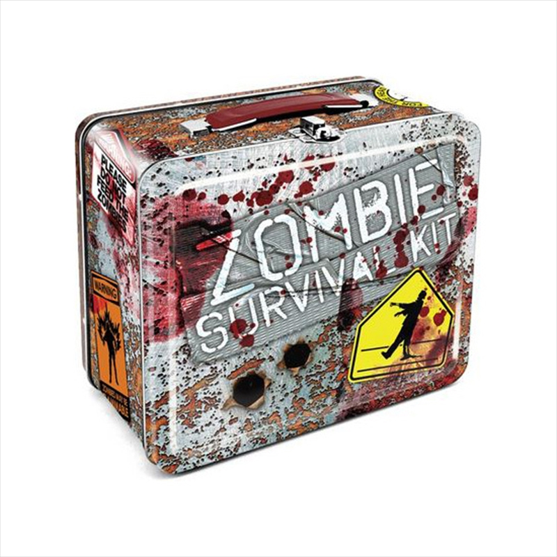 Zombie Survival Tin Carry All Fun Box / Lunch Box | Lunchbox
