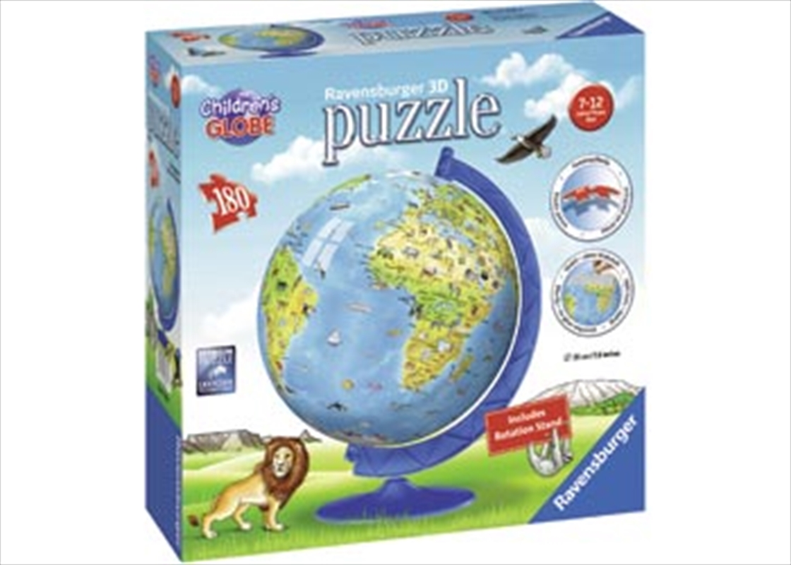 Ravensburger Children's Globe 3D Puzzle - 108 Pieces | Merchandise