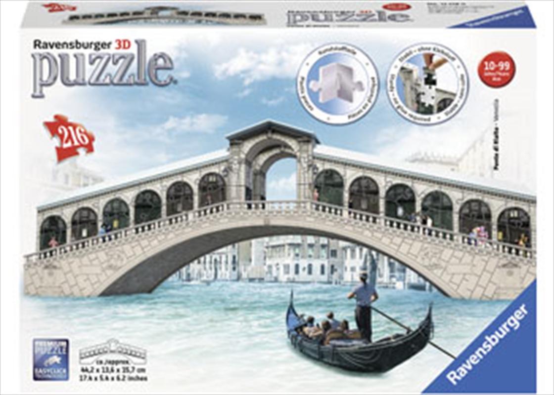 Ravensburger Venice's Rialto Bridge 3D Puzzle - 216 Pieces | Merchandise