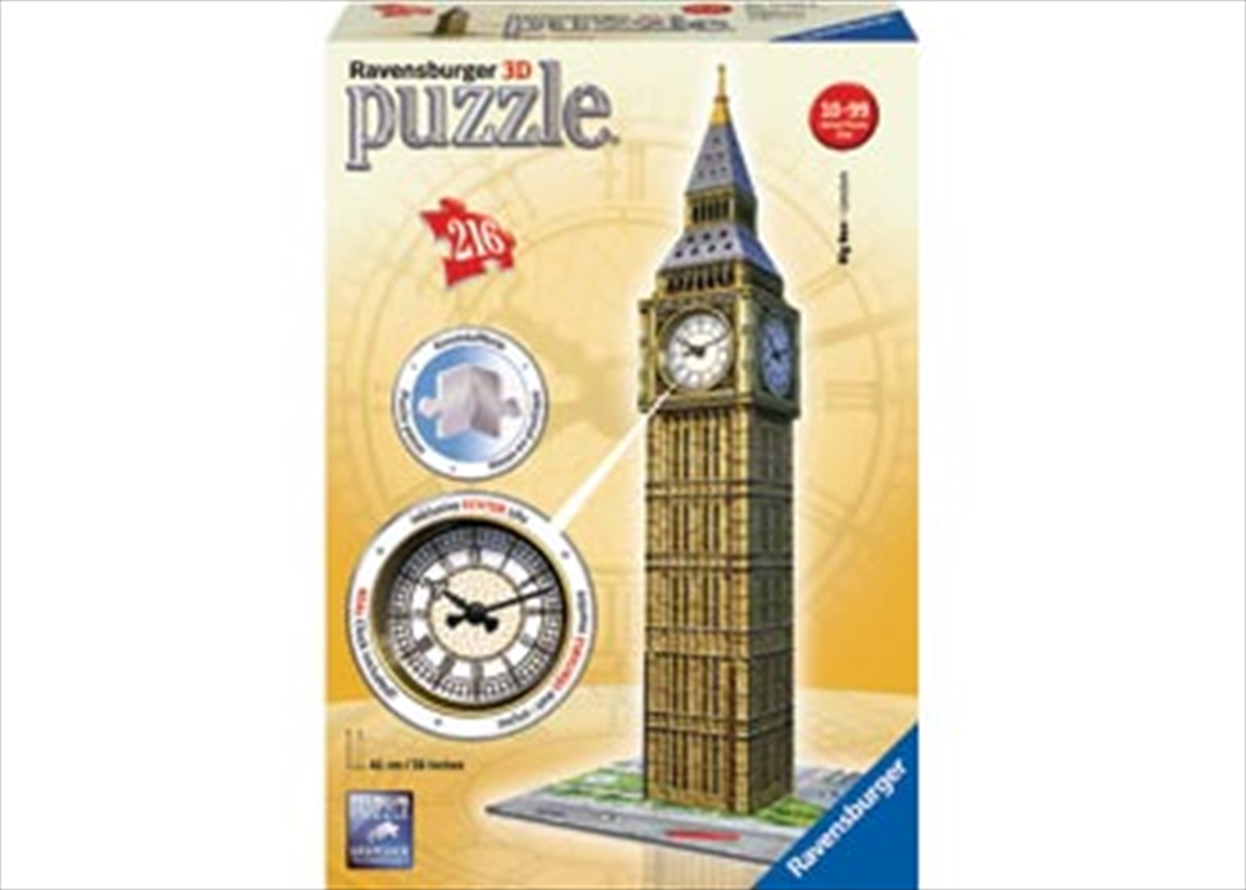 Ravensburger Big Ben with Clock 3D Puzzle - 216 Pieces | Merchandise