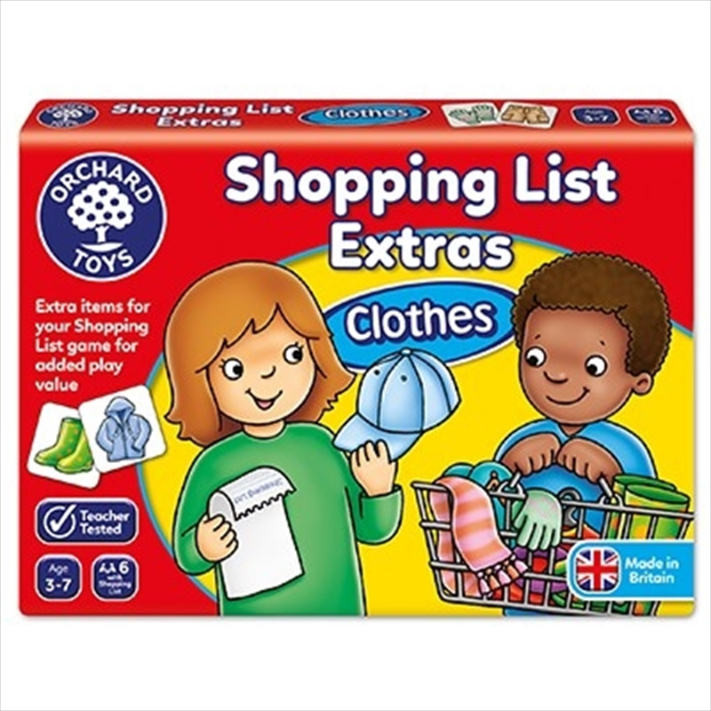 Shopping List Booster Pack Clothes   Merchandise
