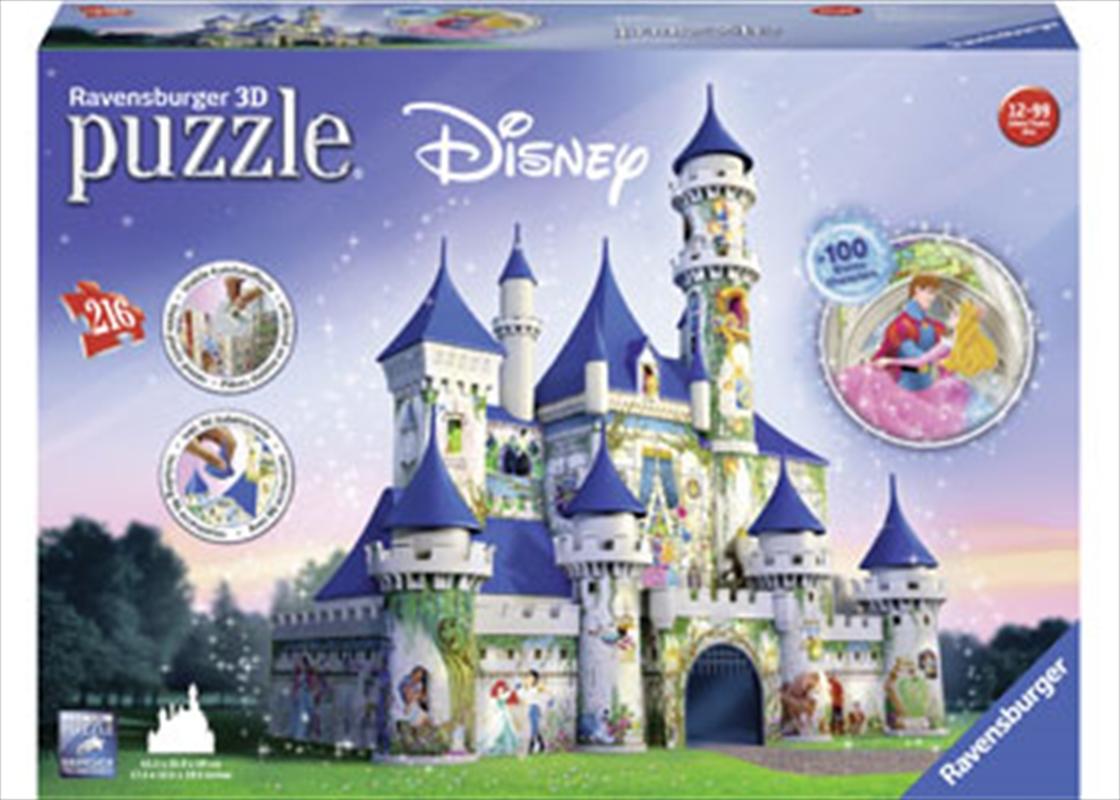 Disney Princesses Castle 3D Puzzle 216 Piece | Merchandise