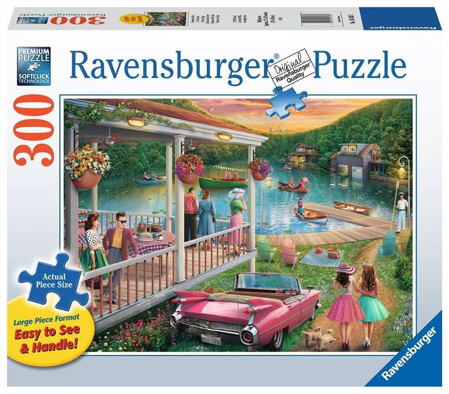Ravensburger - Summer at the Lake Large Format Puzzle 300pc | Merchandise
