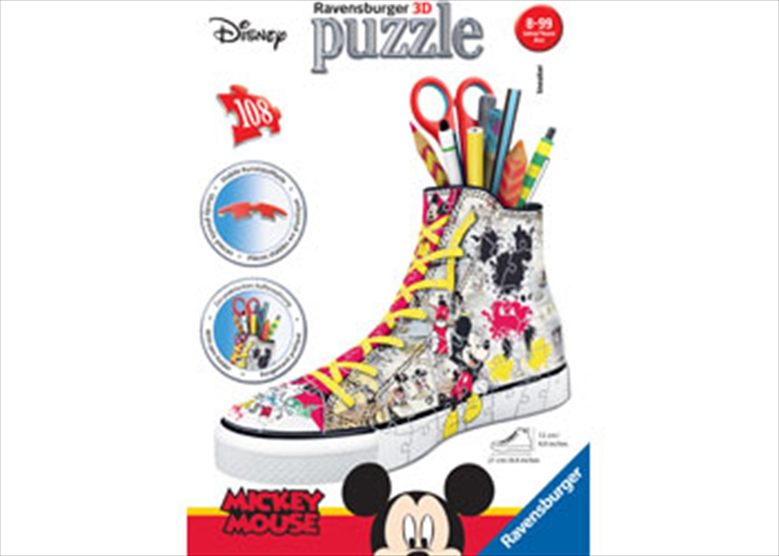 Ravensburger - Disney Mickey 3D Sneaker 108 Piece Puzzle | Merchandise