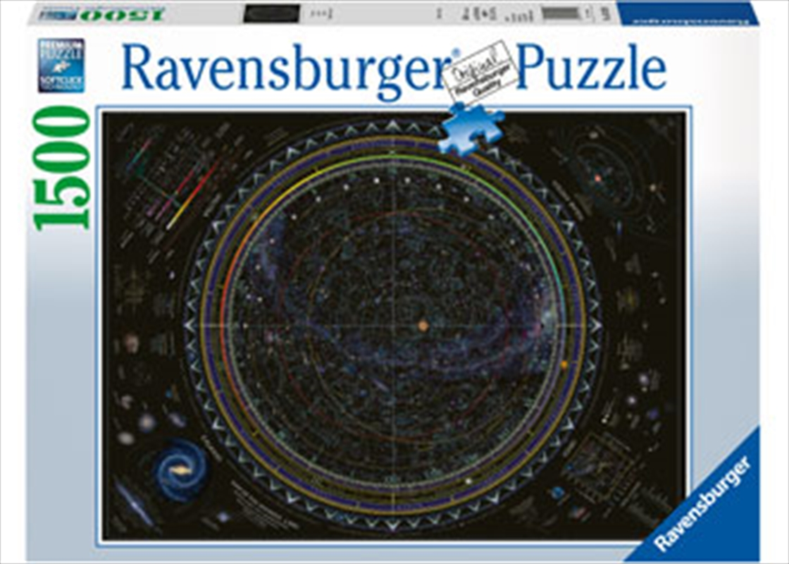 Ravensburger - Map of the Universe Puzzle 1500 Piece | Merchandise