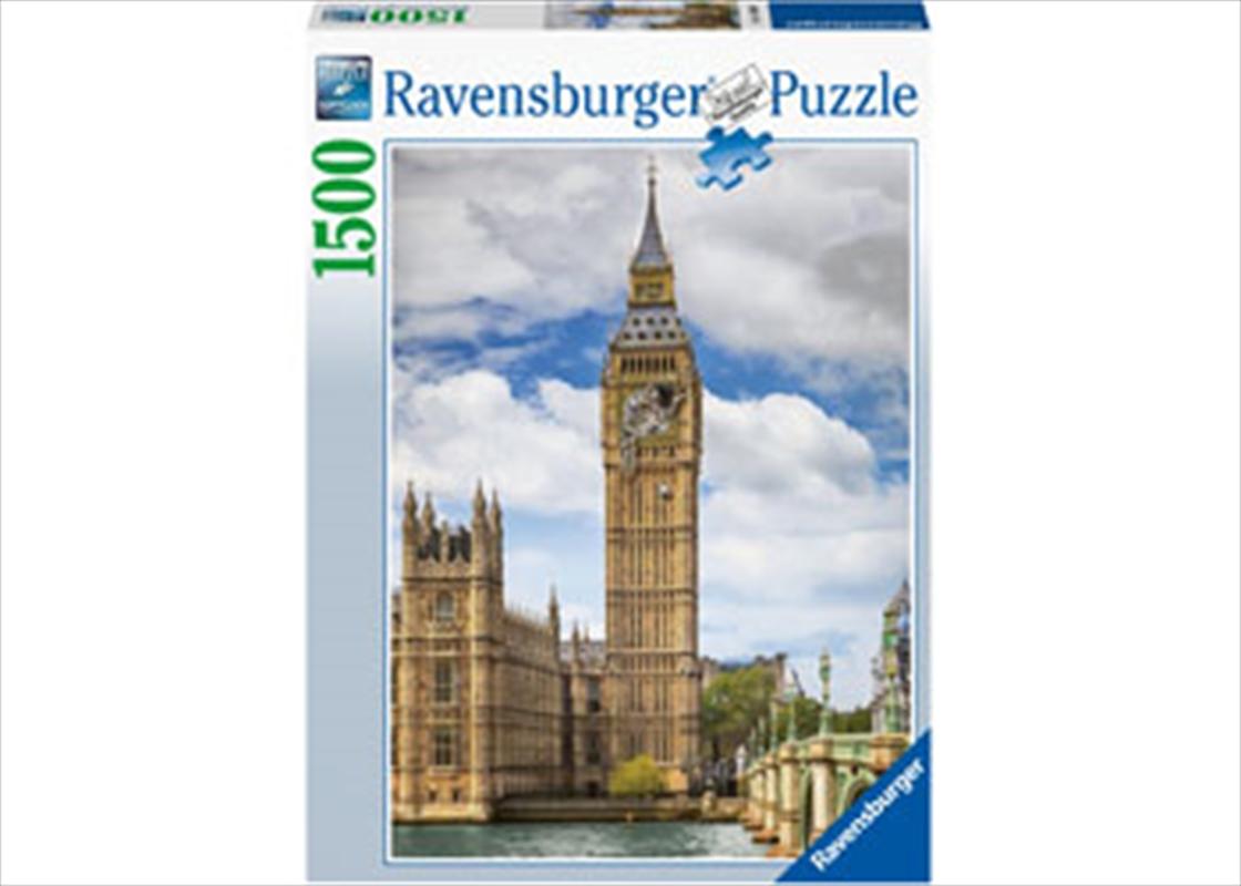Funny Cat On Big Ben 1500 Piece Puzzle | Merchandise
