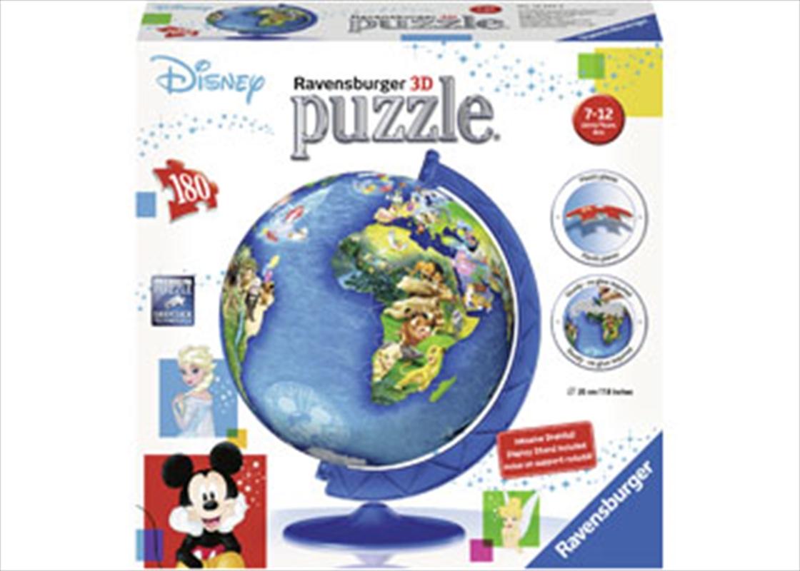 Ravensburger - Disney Globe Puzzleball 180 Piece Puzzle   Merchandise