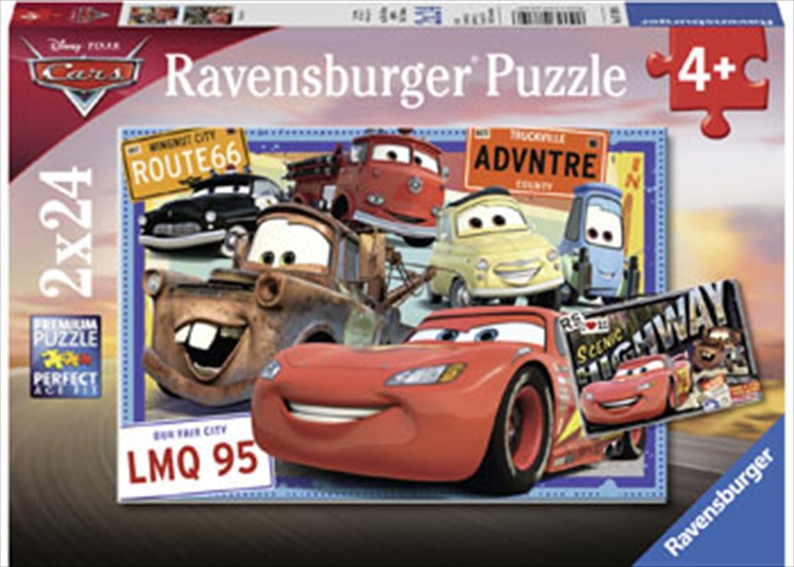 Ravensburger - Disney Two Cars Puzzle 2x24 Piece   Merchandise