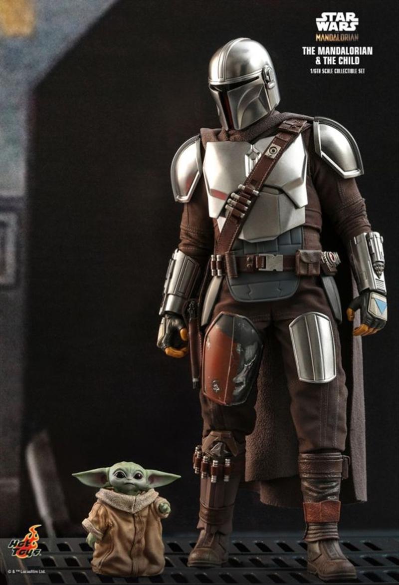 "Star Wars: The Mandalorian - Mandalorian & The Child 1:6 Scale 12"" Action Figure   Merchandise"