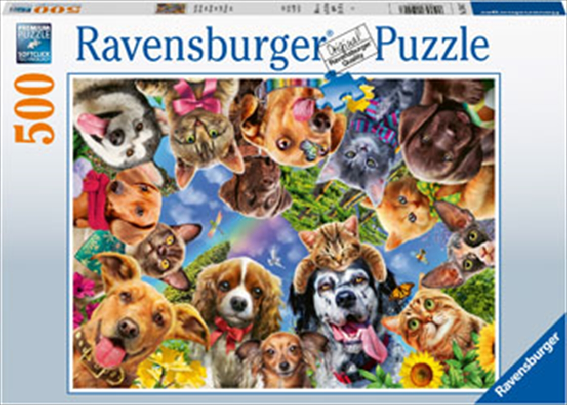Animal Selfie 500 Piece Puzzle | Merchandise