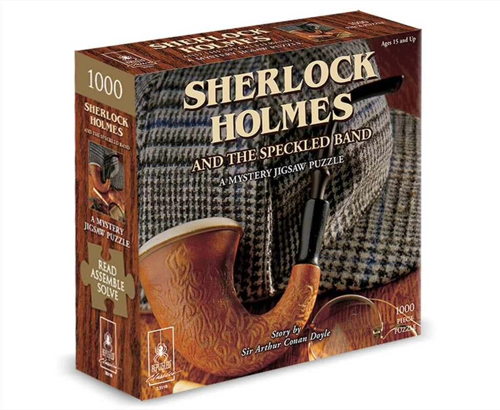 Sherlock Holmes With Book - 1000 Piece Puzzle | Merchandise