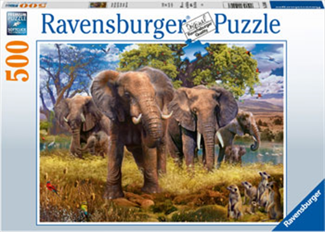 Elephant Family 500 Piece Puzzle | Merchandise
