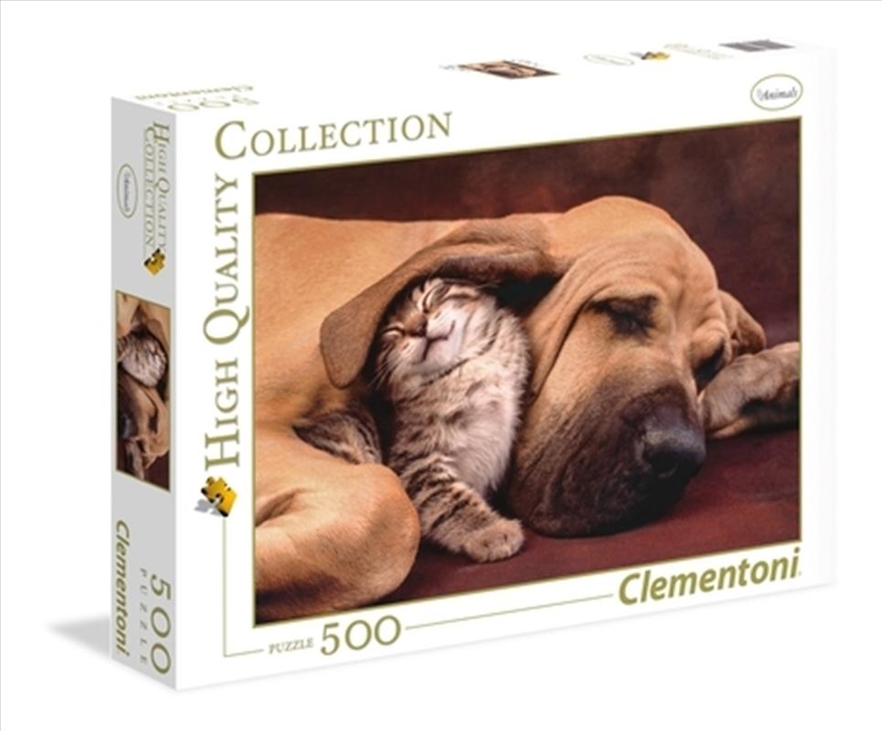Cuddles: Dog And Kitten 500 Piece Puzzle   Merchandise
