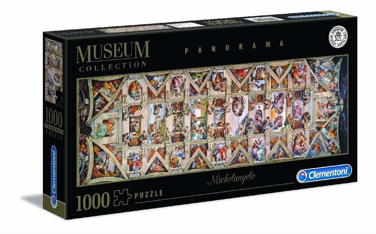 Michelangelo: Sistine Chapel Ceiling - 1000 Piece Panoramic Jigsaw Puzzle | Merchandise