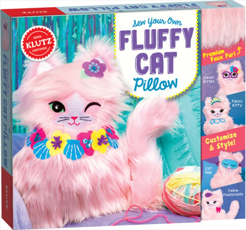 Sew Your Own Fluffy Cat Pillow | Toy