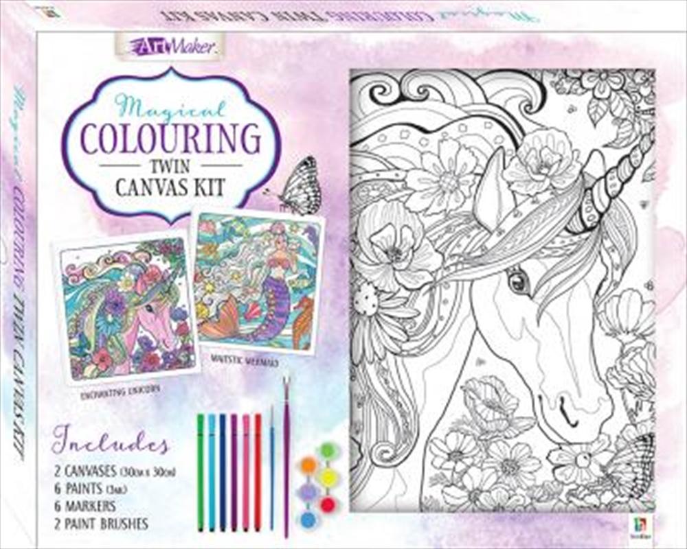 Magical Colouring Canvas Twin | Colouring Book