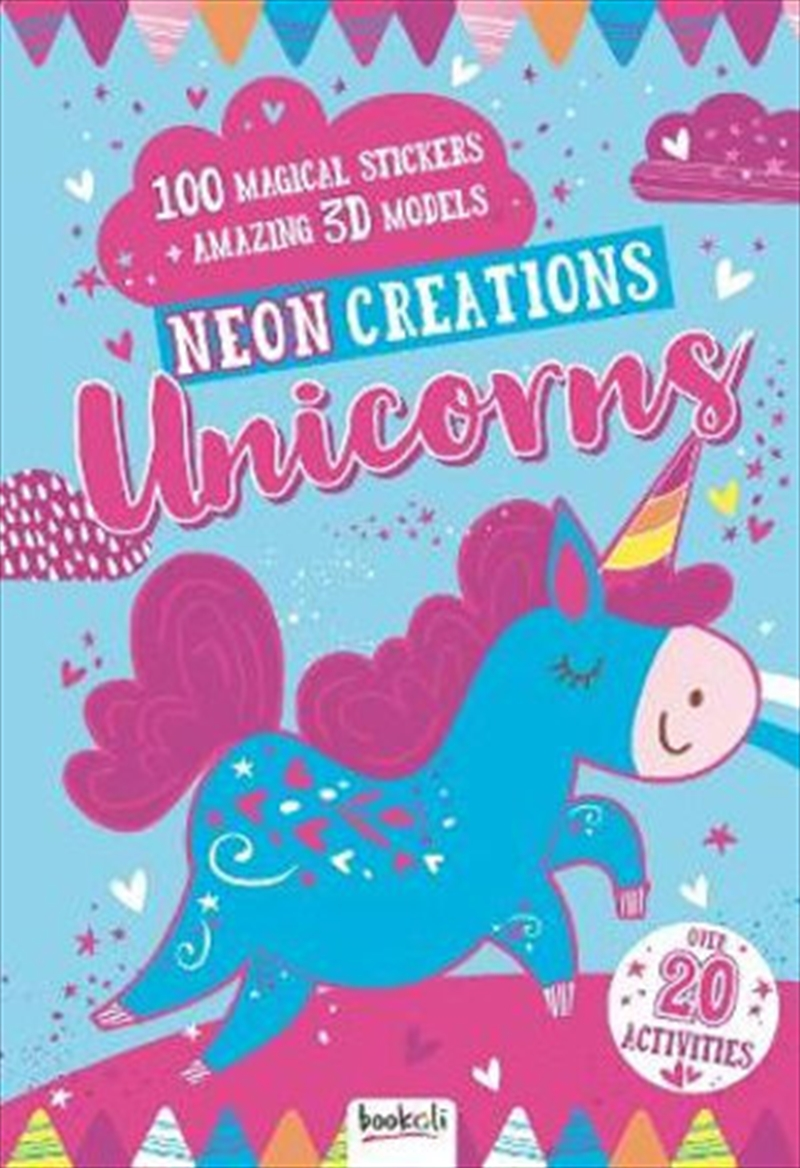 Neon Creations Make Your Own Unicorn Models   Spiral Bound