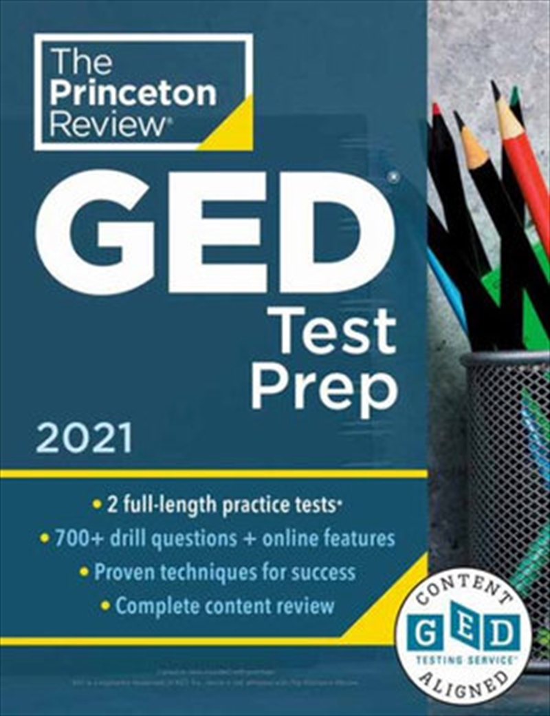 Princeton Review GED Test Prep, 2021 Practice Tests + Review & Techniques + Online Features   Paperback Book