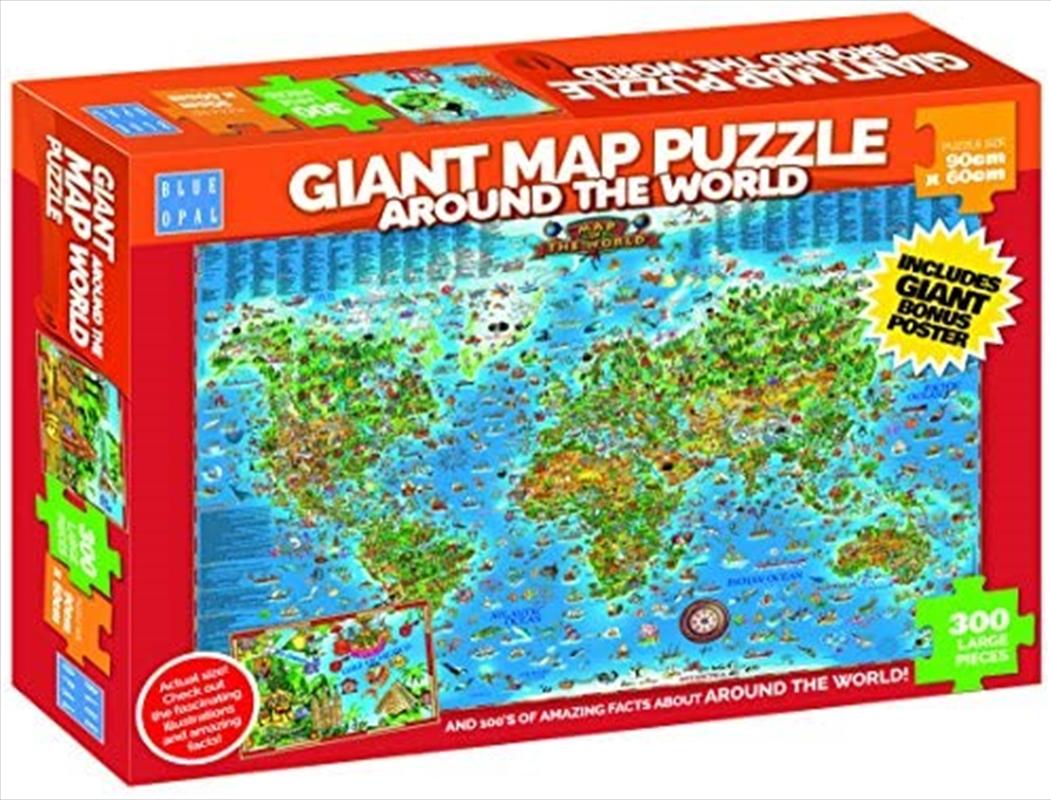 Around The World Giant Map 300pc | Merchandise