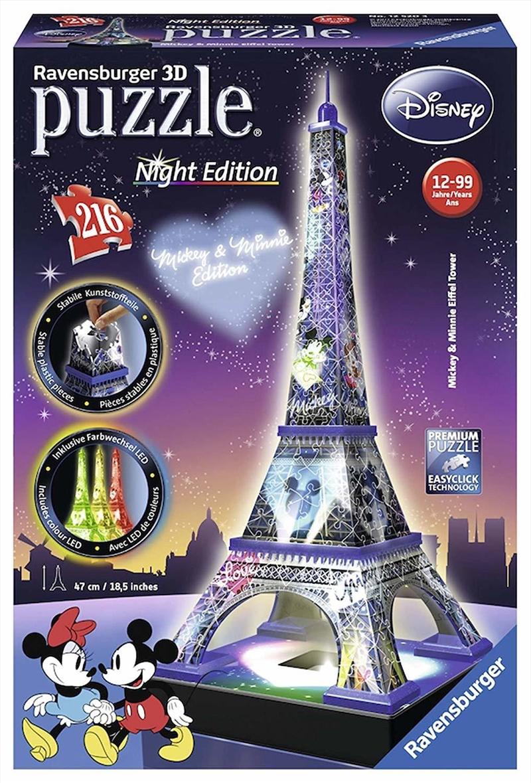 Mickey Minnie Eiffel Tower 3D Puzzle - 216 Piece | Merchandise