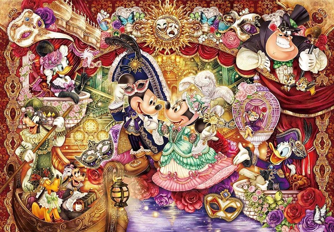 Tenyo Disney Magnificent Masquerade Invitation Puzzle 1,000 pieces   Merchandise