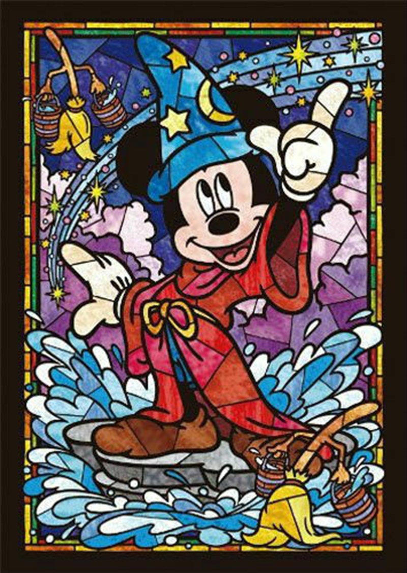 Tenyo Disney Mickey Mouse Stained Glass Puzzle 266 pieces   Merchandise
